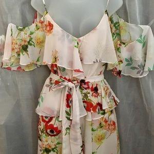 COPY - Cold shoulder floral Yumi Kim new dress w/…